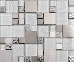 glass mosaic tile backsplash ssmt110 silver metal mosaic stainless steel mosaic tiles sheet stainless steel mosaic