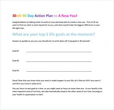 30 60 90 Day Action Plan Template Download Now 30 60 90 Day Plan Template 8 Free Download Documents In