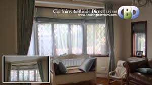roman blinds and curtains.  Curtains BayWindow Roman Blinds At Wwwleadinginteriorscom In And Curtains U