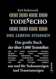 Todesecho Des Lebens Stimmen Buch Karl Brahmwald