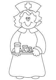 nurse community helpers coloring pages   coloringstarnurse community helpers coloring pages