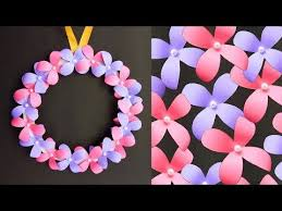 diy wall hanging paper flower craft