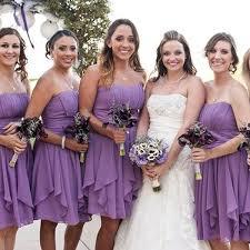 Cheap Short Bridesmaids Dresses Lavender <b>Chiffon</b> Strapless ...