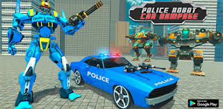 Police Robot Car Rampage: New robot shooting Games - Apps on ...