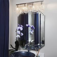 crystal fusion design 4 light 24 bath vanity fixture contemporary bathroom