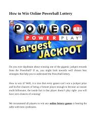 Powerball Rewards Chart Ppt How To Win Online Powerball Lottery Powerpoint