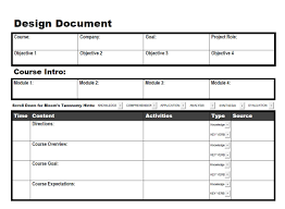 Instructional Design Document Samples Angela Rupert