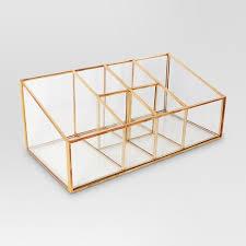 Glass & Metal Vanity Organizer - Threshold