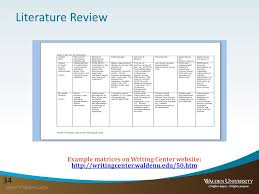Systematic literature review table    Writing a Systematic Literature Review   Resources for Students and