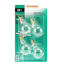sylvania 4 pack 60 watt dimmable soft white a15 incandescent light fixture light bulbs