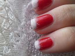 Zdeňka škodová Zimní červeno Bílé Nehty