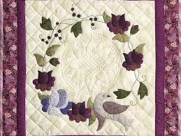 Vines and Roses Quilt -- splendid cleverly made Amish Quilts from ... & ... Plum Vines and Roses Applique Wall Hanging Photo 2 ... Adamdwight.com