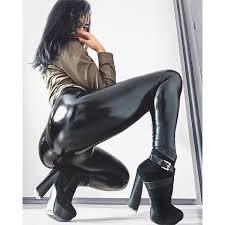 ultra shiny pvc leggings leather wetlook instagram bester