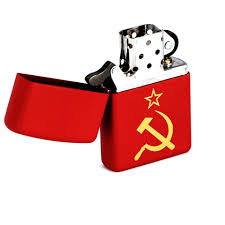 <b>Зажигалка Zippo</b> Серп и молот с покрытием <b>Red</b> Matte, латунь ...