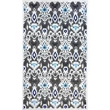 nuloom ikat charlotte black 5 ft x 8 ft indoor outdoor area rug