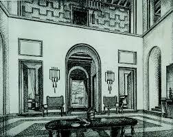 Progettazione Di Interni Milano : Sala da pranzo stanza studio e progetto di una villa iv