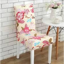 flower elegant box cushion dining chair slipcover
