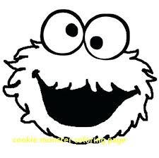 Monster Coloring Pages Printable Cookie Monster Coloring Pages