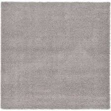 solid cloud gray 8 ft square area rug