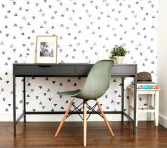 home office design quirky. Home Office Wallpaper Quirky Colorless Adds An Accent To The Design S