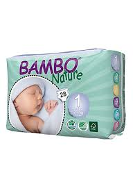 Shop Bambo Nature Bambo Nature New Born 2 4 Kg 28 Count Size 1 Diapers Online In Dubai Abu Dhabi And All Uae