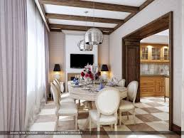 pendant lighting dining room table. Artistic Cream Brown Theme Dining Room Silver Pendant Light Lighting Table C