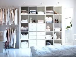 ikea open closet walk in closet behind bed the grid unit has no back so add