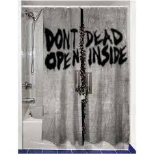 walking dead tv show shower curtain