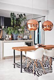 pendant lighting over dining table. kitchen white copper pendants open plan industrial chic modern livingetc pendant lighting over dining table d