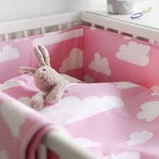 farg form pink cloud bedding set cotbed