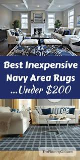 best navy area rugs that are inexpensive