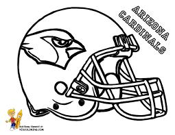 Anti Skull Cracker Football Helmet Coloring Page Nfl Football