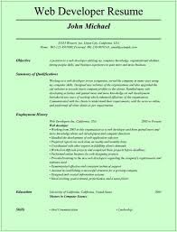Resumes Junior Web Developer Resume Job Samples Free Template Doc Cv