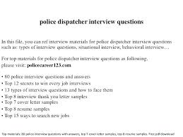 Cover Letter Police Officer Cover Letter Sample Dispatcher Resume