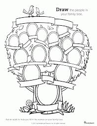Small Picture Family Tree Coloring Sheet Coloring Coloring Pages