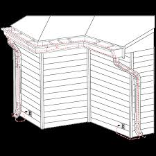 rain gutter heat tape. Perfect Heat HeatCableDiagramGutterDownspoutInstallationgif For Rain Gutter Heat Tape A