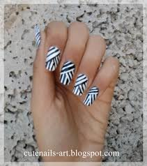 Nail art line designs - how you can do it at home. Pictures ...