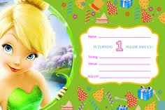 Tinkerbell Invitation Green Tambola Tickets Paper Games Game Ideas