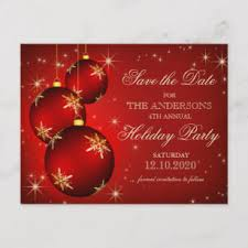 Christmas Party Save The Date Templates Christmas Or Holiday Party Save The Date Postcard
