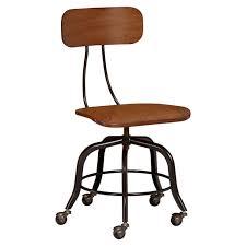Vintage wooden office chair Banker Pbteen Vintage Wood Swivel Chair Pbteen