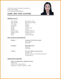 3+ applicant resume sample filipino
