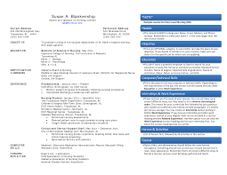 Experienced Nursing Resume Examples Sarahepps Com
