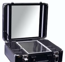 gladking makeup case organizers bag mirror light mkb37081