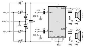 15watts stereo amplifier circuit electrical electronics 15watts stereo amplifier circuit
