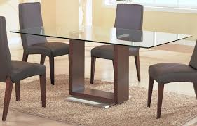 modern glass top dining table glass top dining tables with wood base contemporary table for 2