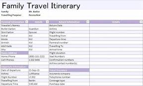 Sample Itinerary Forms Travel Itinerary Sample Pdf Trip Template Skincense Co