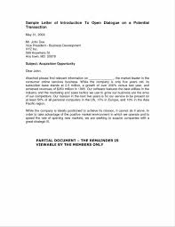 Business Introduction Letter Template Free Business Introduction