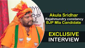 Rajahmundry BJP MLA Candidate Akula Sridhar Exclusive Full Interview | Top  Telugu Media - YouTube