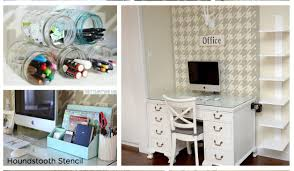 diy home office ideas. stunning home office nook uses the houndstooth stencil from cutting edge stencils wwwcuttingedgestencils diy ideas