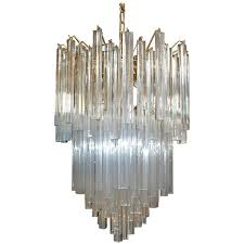 venini triedri tiered murano glass chandelier